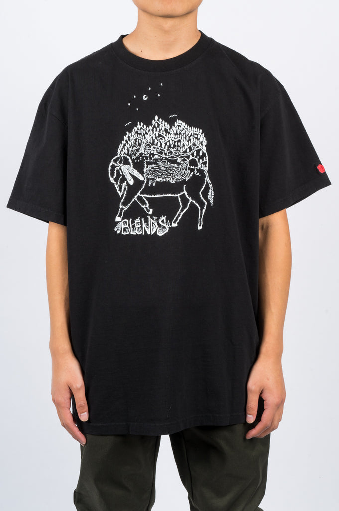 BLENDS BUFFALO TSHIRT BLACK - BLENDS