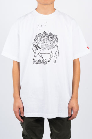 BLENDS BUFFALO TSHIRT WHITE - BLENDS