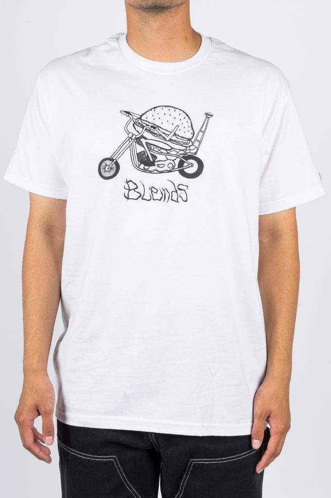 BLENDS HAMBURGER TSHIRT WHITE - BLENDS