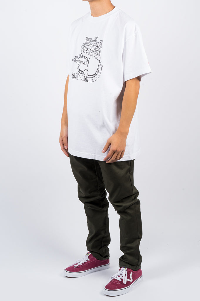 BLENDS SKULL TSHIRT WHITE - BLENDS