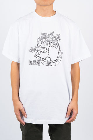 BLENDS SKULL TSHIRT WHITE