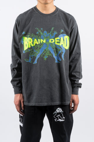 BRAIN DEAD BLAMMIN' LS TSHIRT NAVY - BLENDS