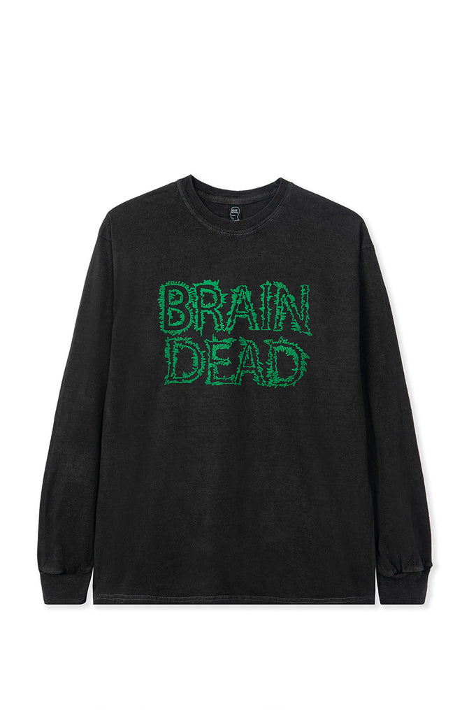 BRAIN DEAD GOOEY LS TEE BLACK