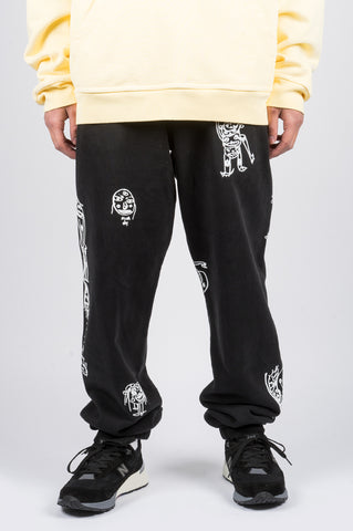 BRAIN DEAD P&TY SWEATPANT BLACK - BLENDS