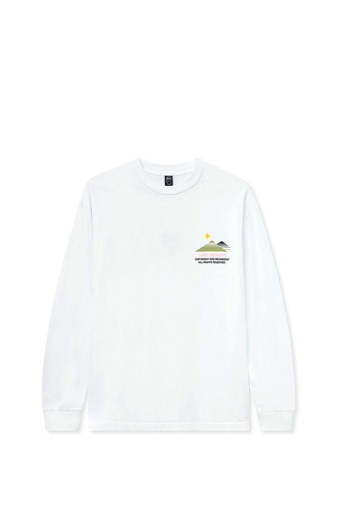 BRAIN DEAD PURGATORY LONG SLEEVE T-SHIRT WHITE