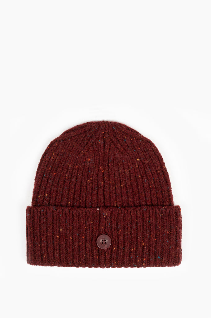 CARHARTT WIP ANGLISTIC BEANIE BORDEAUX HEATHER
