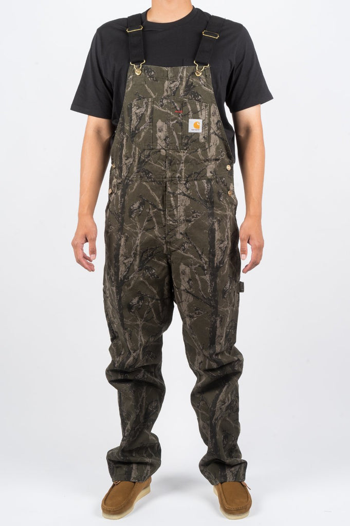 CARHARTT WIP BIB OVERALL GREEN TREE CAMO - BLENDS