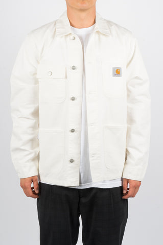 CARHARTT WIP SPRING MICHIGAN CHORE COAT OFF WHITE