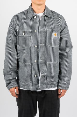 CARHARTT WIP MICHIGAN CHORE COAT BLUE HICKORY