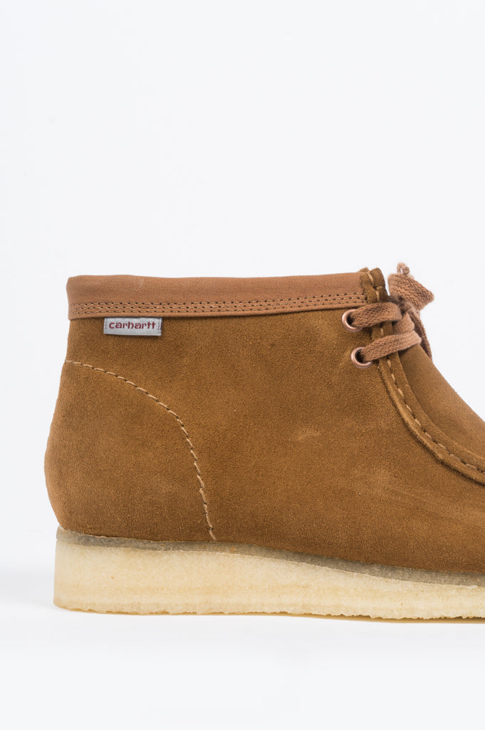 CLARKS X CARHARTT WIP WALLABEE BOOT BROWN COMBI - BLENDS