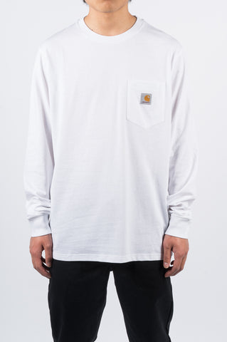 CARHARTT WIP LS POCKET TEE WHITE - BLENDS