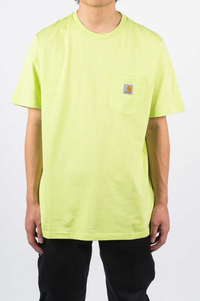 CARHARTT WIP SS POCKET TEE LIME - BLENDS