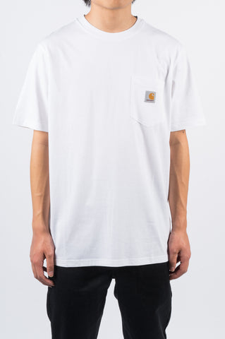 CARHARTT WIP SS POCKET TEE WHITE - BLENDS