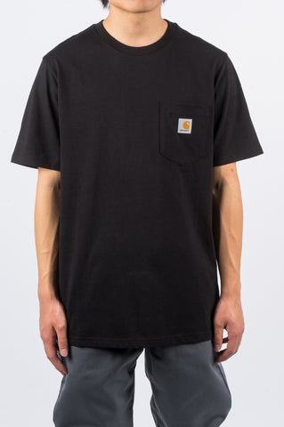 CARHARTT WIP SS POCKET TEE BLACK - BLENDS