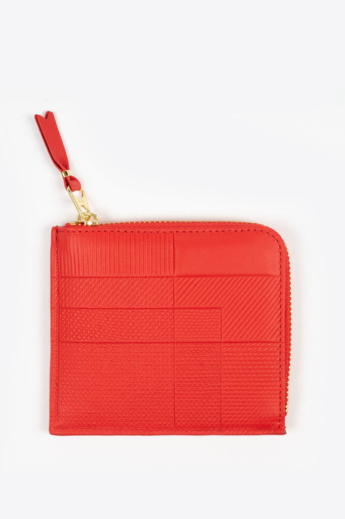 COMME DES GARCONS INTERSECTION LINES WALLET SA3100 RED