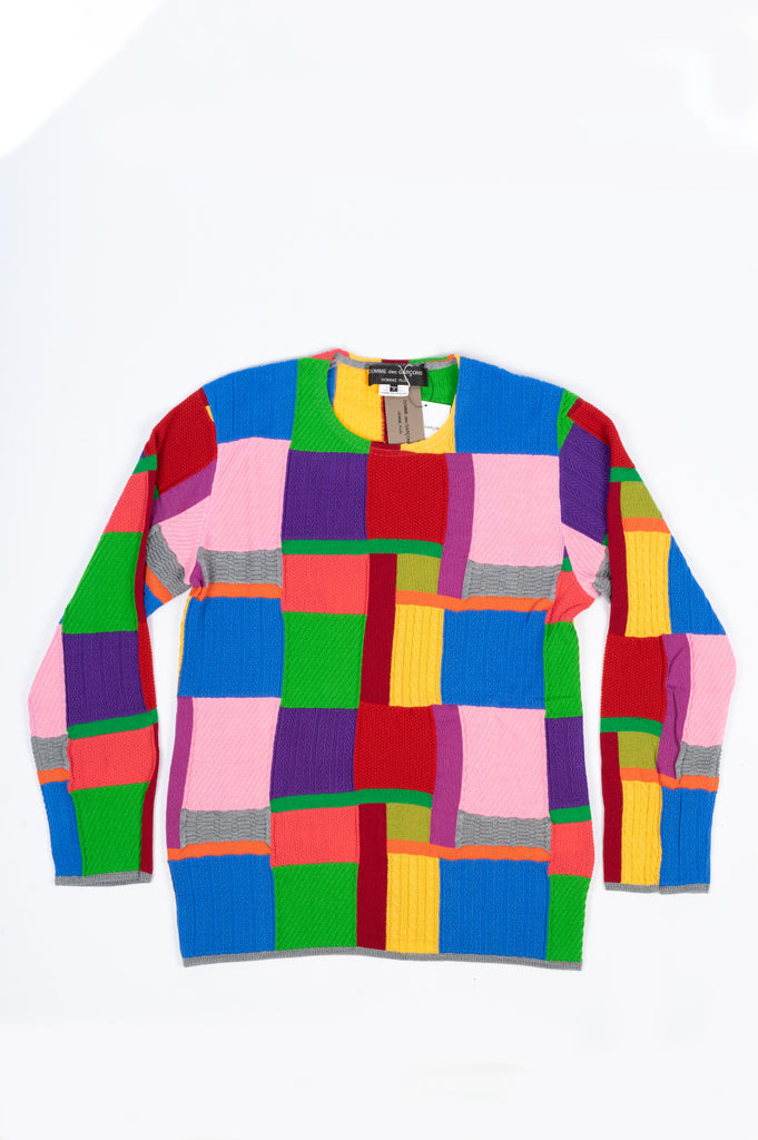 COMME DES GARCONS HOMME PLUS WORSTED ACRYLIC YARN SWEATER MULTI