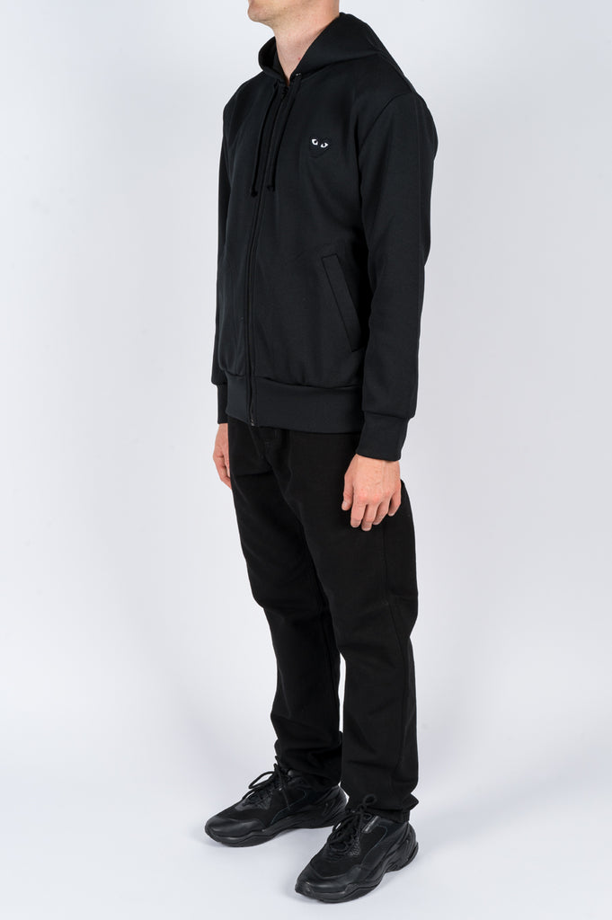 COMME DES GARCONS PLAY HOODIE JACKET BLACK - BLENDS