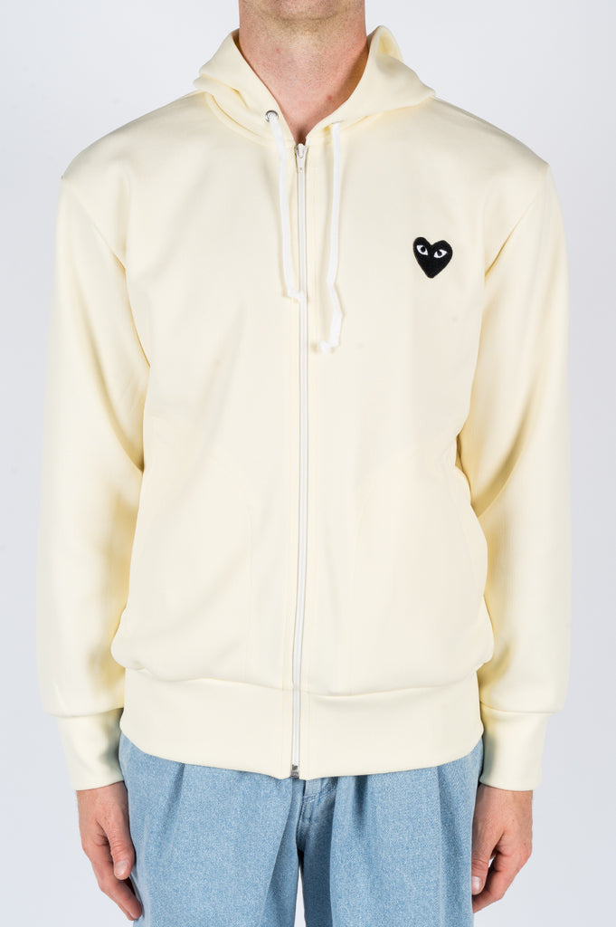 COMME DES GARCONS PLAY HOODIE JACKET IVORY - BLENDS