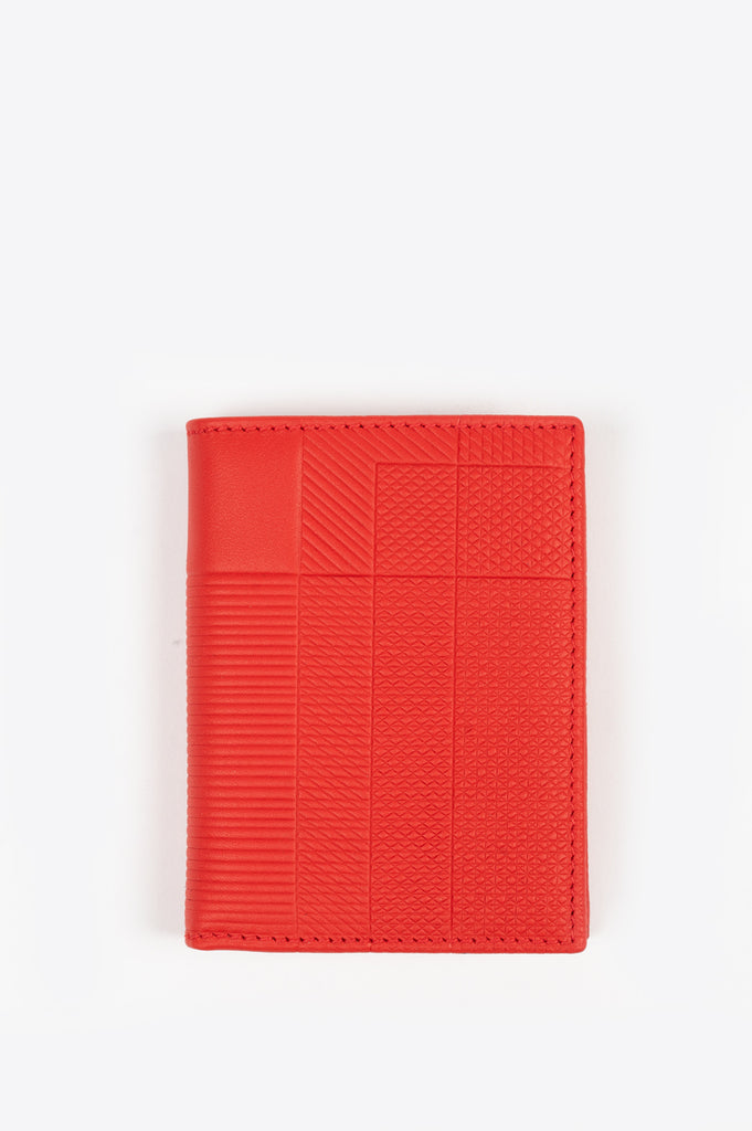 COMME DES GARCONS INTERSECTION LINES WALLET SA0641 RED