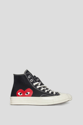 CONVERSE X COMME DES GARCONS PLAY CT 1970 HI TOP BLACK - BLENDS