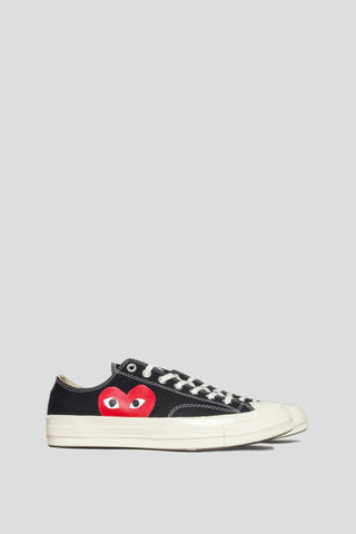 CONVERSE X COMME DES GARCONS PLAY CT 1970 LOW TOP BLACK - BLENDS