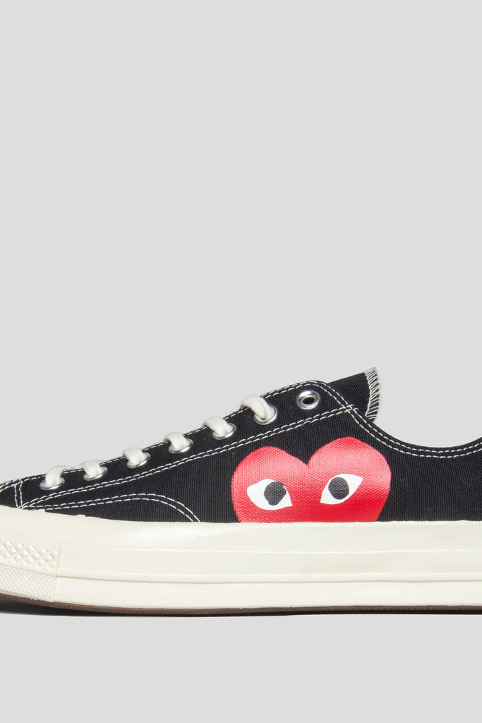 CONVERSE X COMME DES GARCONS PLAY CT 1970 LOW TOP BLACK