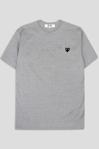 COMME DES GARCONS PLAY SS TSHIRT BLACK HEART GREY