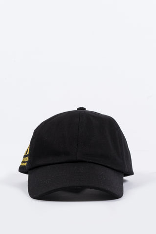 CALVIN KLEIN EST. 1978 OK LOGO DENIM CAP BLACK YELLOW - BLENDS