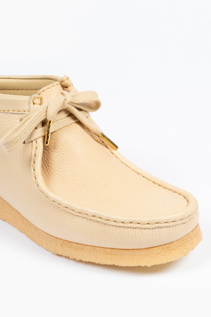 CLARKS X SPORTY & RICH WALLABEE BOOT CREAM PUFF LEATHER