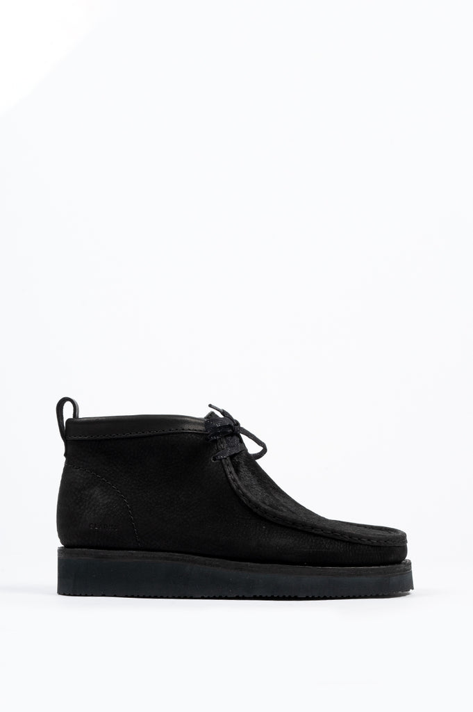CLARKS WALLABEE BOOT HIKE BLACK SUEDE