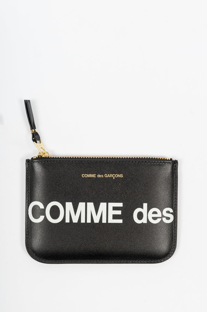 COMME DES GARCONS WALLET HUGE LOGO WALLET 8100 BLACK