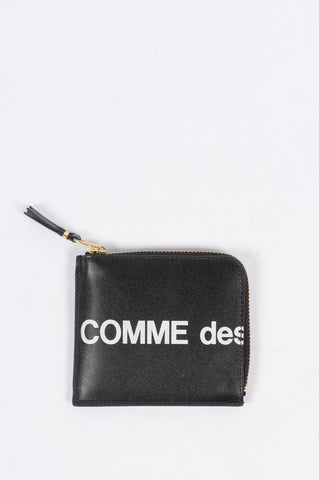 COMME DES GARCONS WALLET HUGE LOGO WALLET 3100 BLACK - BLENDS