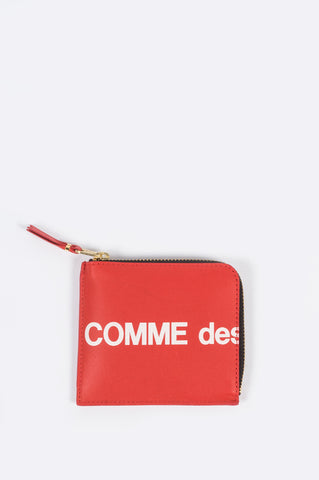 COMME DES GARCONS WALLET HUGE LOGO WALLET 3100 RED - BLENDS
