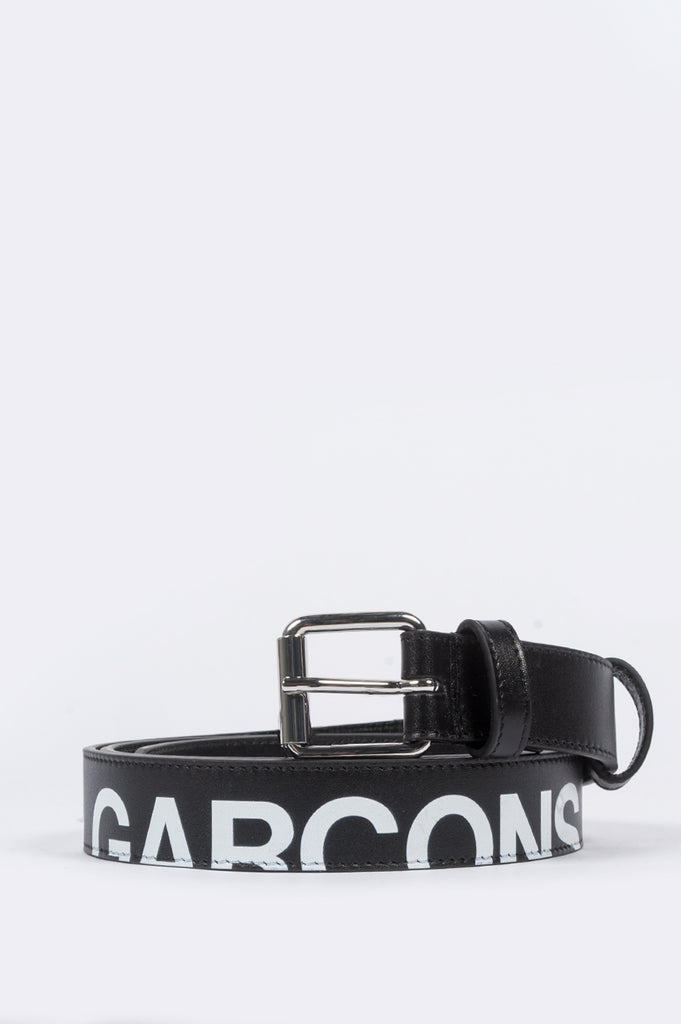 COMME DES GARCONS WALLET HUGE LOGO BELT BLACK - BLENDS