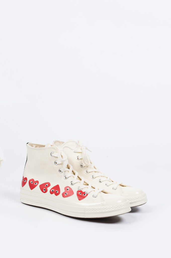 CONVERSE X COMME DES GARCONS PLAY CT 1970 HI TOP MULTI HEART EGRET