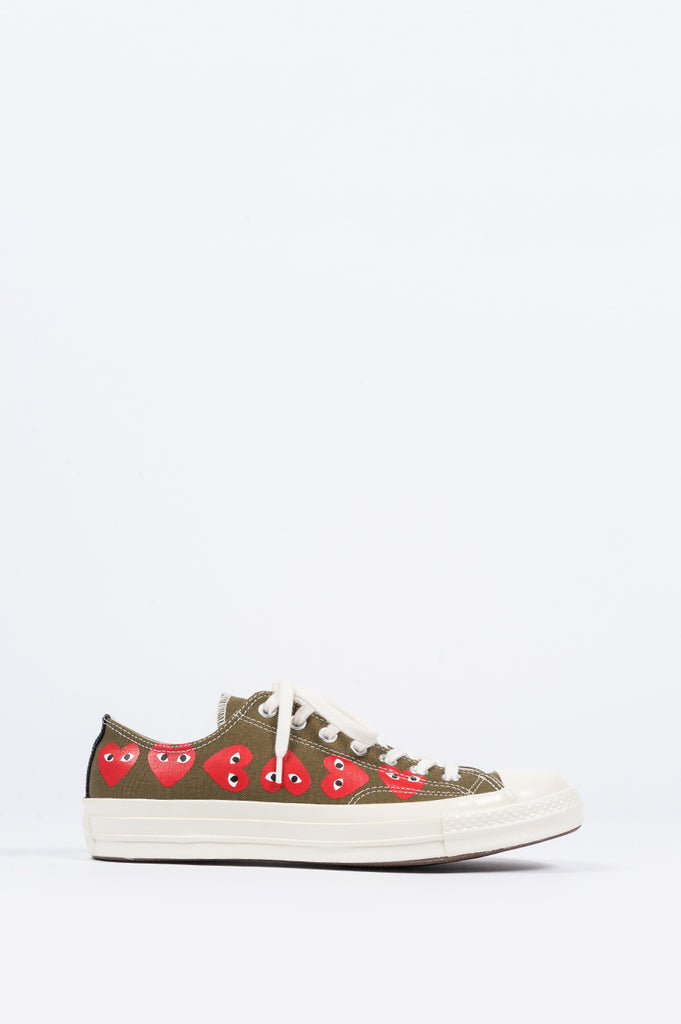 CONVERSE X COMME DES GARCONS PLAY CT 1970 LOW MULTI HEART GREEN