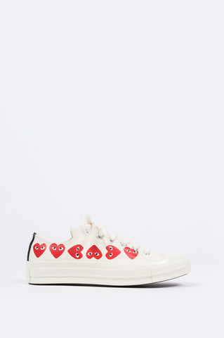 CONVERSE X COMME DES GARCONS PLAY CT 1970 LOW MULTI HEART EGRET