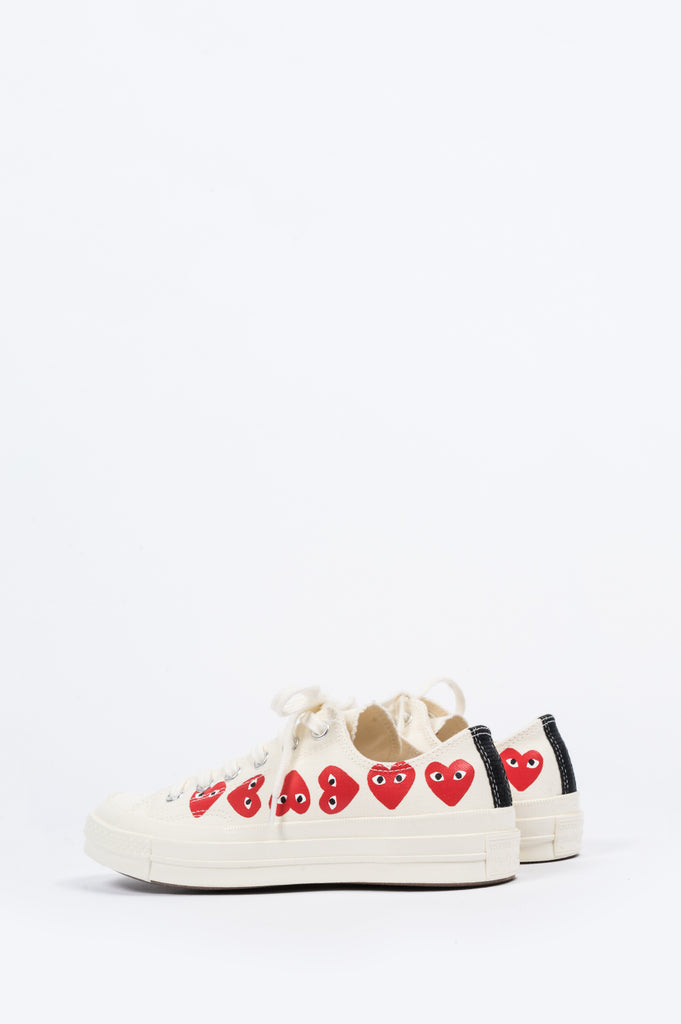 CONVERSE X COMME DES GARCONS PLAY CT 1970 LOW MULTI HEART EGRET - BLENDS