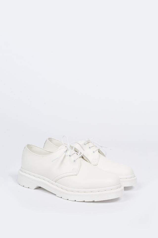 DR MARTENS 1461 MONO WHITE SMOOTH | BLENDS
