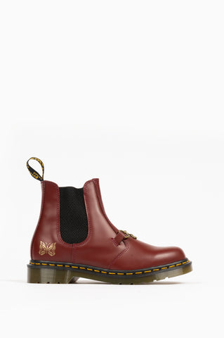 DR MARTENS 2976 SNAFFLE NEEDLES CHERRY RED SMOOTH