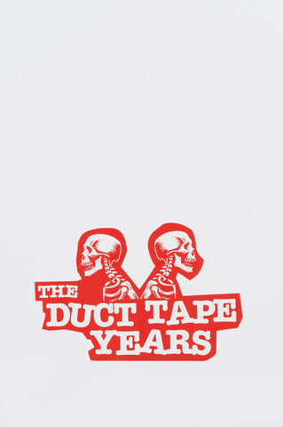 THE DUCT TAPE YEARS DOUBLE HEADER STICKER RED