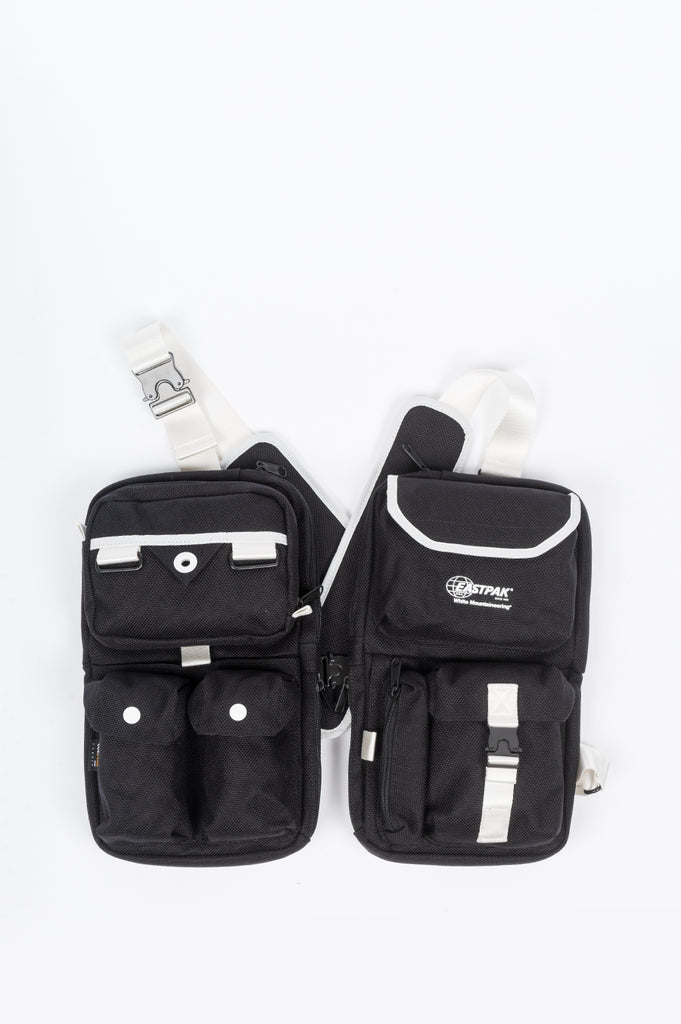 EASTPAK X WHITE MOUNTAINEERING VEST BAG BLACK WHITE
