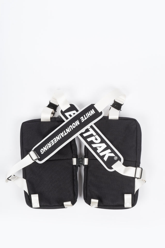 EASTPAK X WHITE MOUNTAINEERING VEST BAG BLACK WHITE - BLENDS