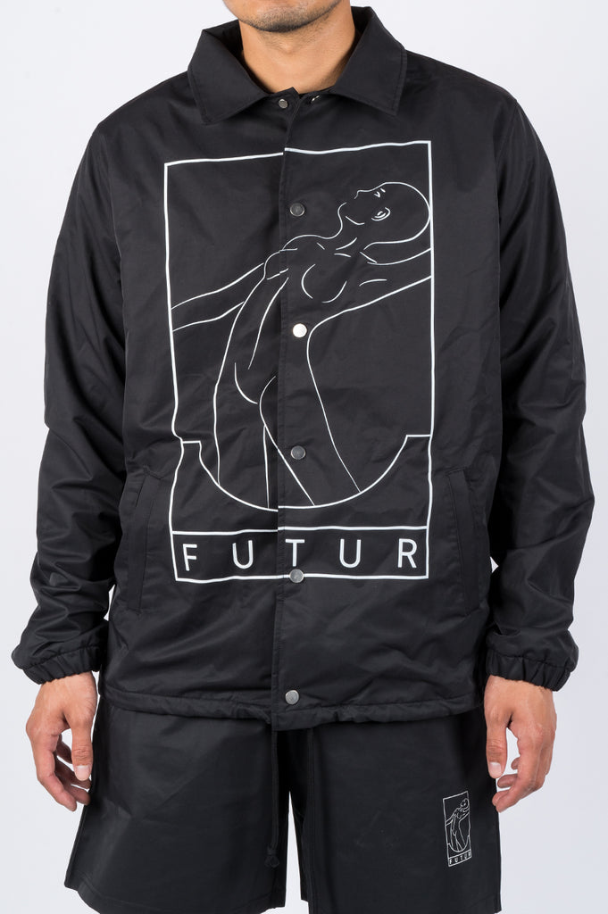 FUTUR SPLASH COACHES JACKET BLACK