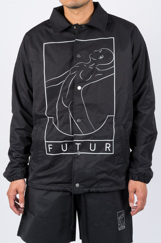 FUTUR SPLASH COACHES JACKET BLACK - BLENDS