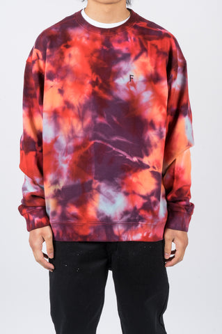FUTUR OUTLINE G FIT CREW TIE DYE - BLENDS