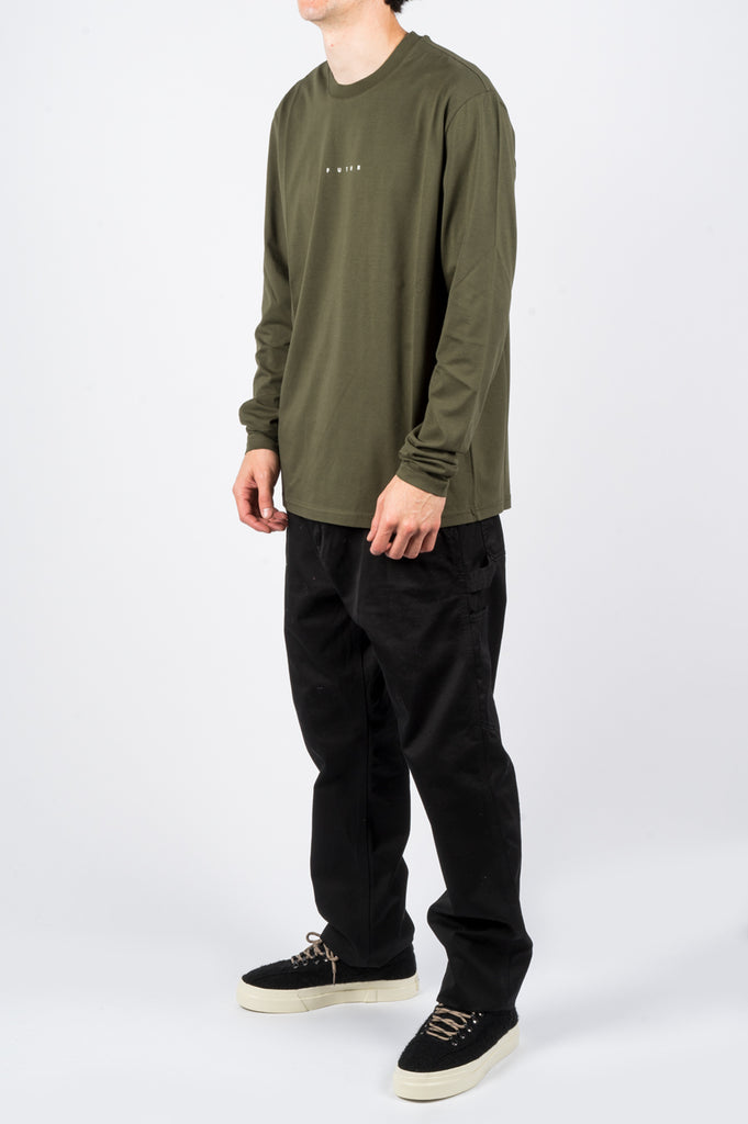 FUTUR LOGO LS TEE ARMY GREEN - BLENDS