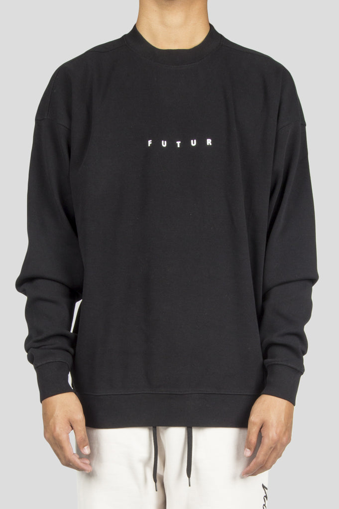 FUTUR RIB LOGO CREWNECK BLACK - BLENDS