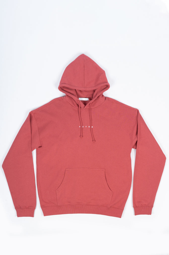FUTUR LOGO G FIT HOODIE SOFT RED