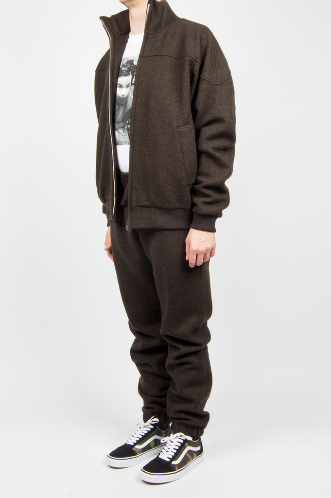 FUTUR WOOL PANTS BROWN